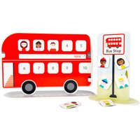 Reward Chart: Personalised Magnetic Bus, Red/Pink
