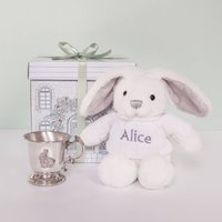 Little Bunnys Traditional Pewter Christening Cup
