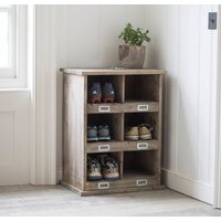 Shoe Locker With Six Cubby Holes
