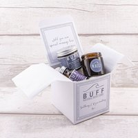 Personalised Message Soothing And Rejuvenating Box, White/Black