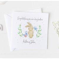 New Baby Card For Boys, Christening Card Boys ..V2a4