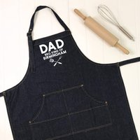 Dad. Bbq King Of ... Personalised Apron