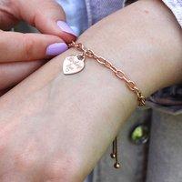 Personalised Rose Gold Slider Bracelet, Gold