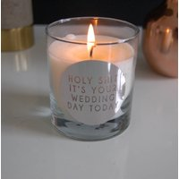 Personalised Silver Wedding Candle Favour