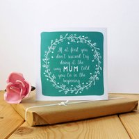 The Way Mum Told You To Card, Teal/Pink
