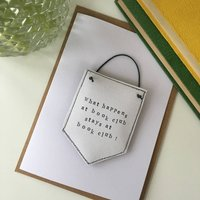 Personalised Banner Keepsake Card