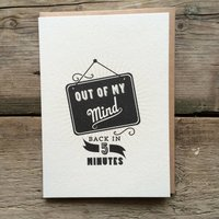 Out Of My Mind... Birthday Card