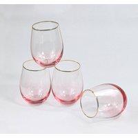 G Decor Set Of Four Lazaro Pink Ombre Tumbler Glasses