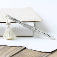 Personalised Silver Bookmark With Tassel