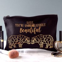 Personalised Unbearlievably Make Up Bag