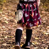 Girls Woodland Animal Print Skirt