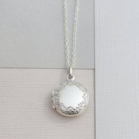 Sterling Silver Classic Round Locket, Silver
