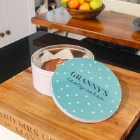 Personalised Circle Star Cake Tin