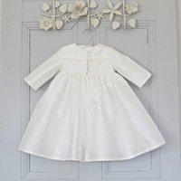 Personalised Silk Christening Coat