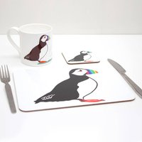 Rainbow Puffin Placemat