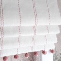 Pink Stripe Linen Blackout Roman Blind