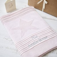 Baby Girl Pink Big Star Blanket