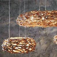 Woven Nest Pendant Light Choice Available