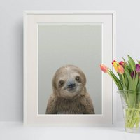 Nursery Decor Sloth Peekaboo Animal Print
