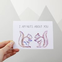 I'm Nuts About You Squirrel Valentine's Day Card