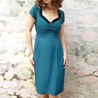 Corina Dress In Emerald Crepe