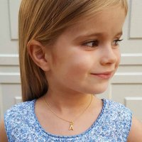 Childrens Personalised Silver Or Gold Initial Necklace, Silver