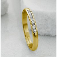 Slim Yellow Gold Channel Set Diamond Eternity Ring, Gold