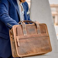 Leather Laptop Briefcase Bag