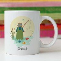 Personalised Fisherman Fishing Mug