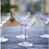 Set Of Six Mixed Champagne Saucers