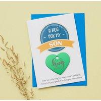 Personalised Little Hug Token Card For Son