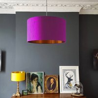 Parma Violet Silk Shade With Copper Or Gold Lining