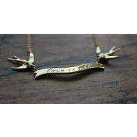 Swallow Love Is All Necklace