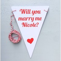 Will You Marry Me? Bunting