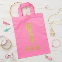 Personalised Birthday Age Mini Tote Bag