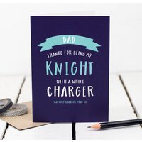Knight With A White Charger Dad Card