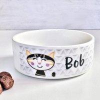 Geometric Personalised Cat Bowl