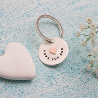 Personalised Wedding Keyring In Greetings Box