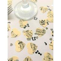 Vintage Music Score Heart Confetti