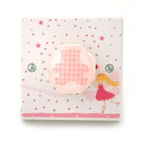 Pink Nursery Light Switch