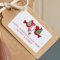 Personalised Turtle Dove Christmas Labels