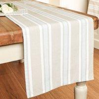Millstone Blue Striped Cotton Table Runner