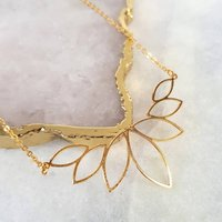 Gold Geometric Necklace, Gold