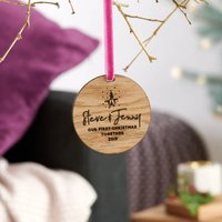 Personalised Couples First Christmas Decoration