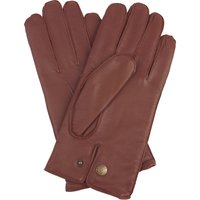 Norton. Men's Warm Lined Leather Gloves, Black/Brown/Tan