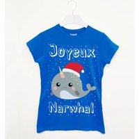 Joyeux Narwhal Women's Christmas T Shirt