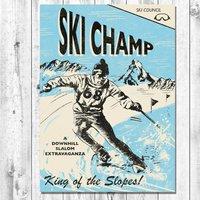Ski Retro Card