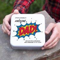 Personalised Superhero Dad Tin