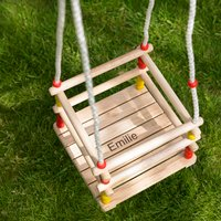 Personalised Wooden Toddler Swing