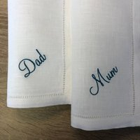 Embroidered Napkin With Name